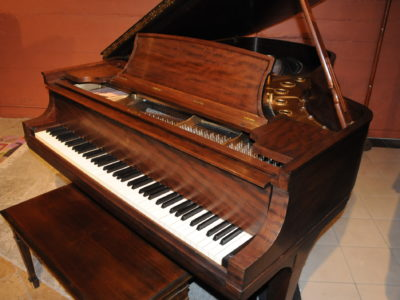 Steinway B Grand Piano with African Pommele Finish