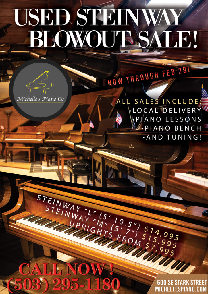 Michelles-Piano-In-Portland-OR-February-Blow-Out-Sale-Flyer